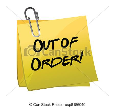Make demotivator with Out Of Order Clipart.