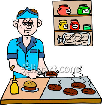 Fast Food Worker Clipart.