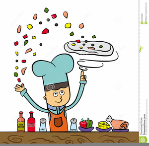 Pizza Making Clipart.