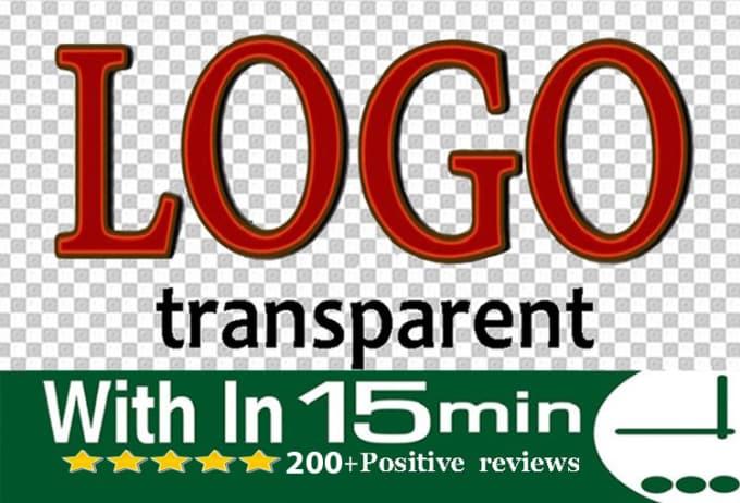 make transparent logo png background for $25.