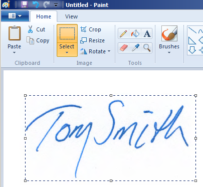 How To Make A Transparent Signature Stamp.