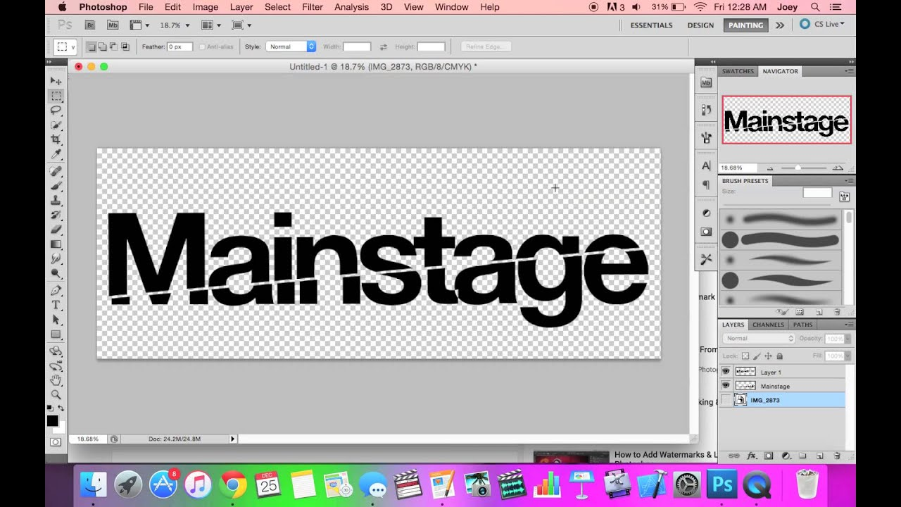 How To Make Transparent PNG Text in Photoshop.