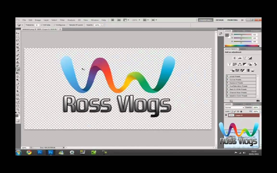 How To Make a Transparent LOGO in Photoshop CS6.
