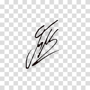 Artist signature transparent background PNG clipart.