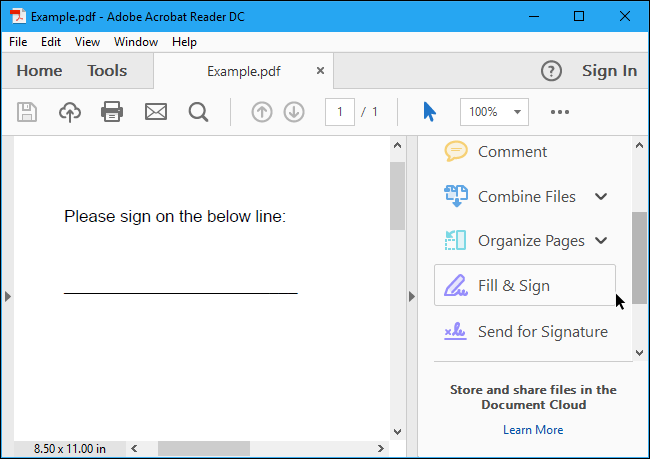 How to Electronically Sign PDF Documents Without Printing.