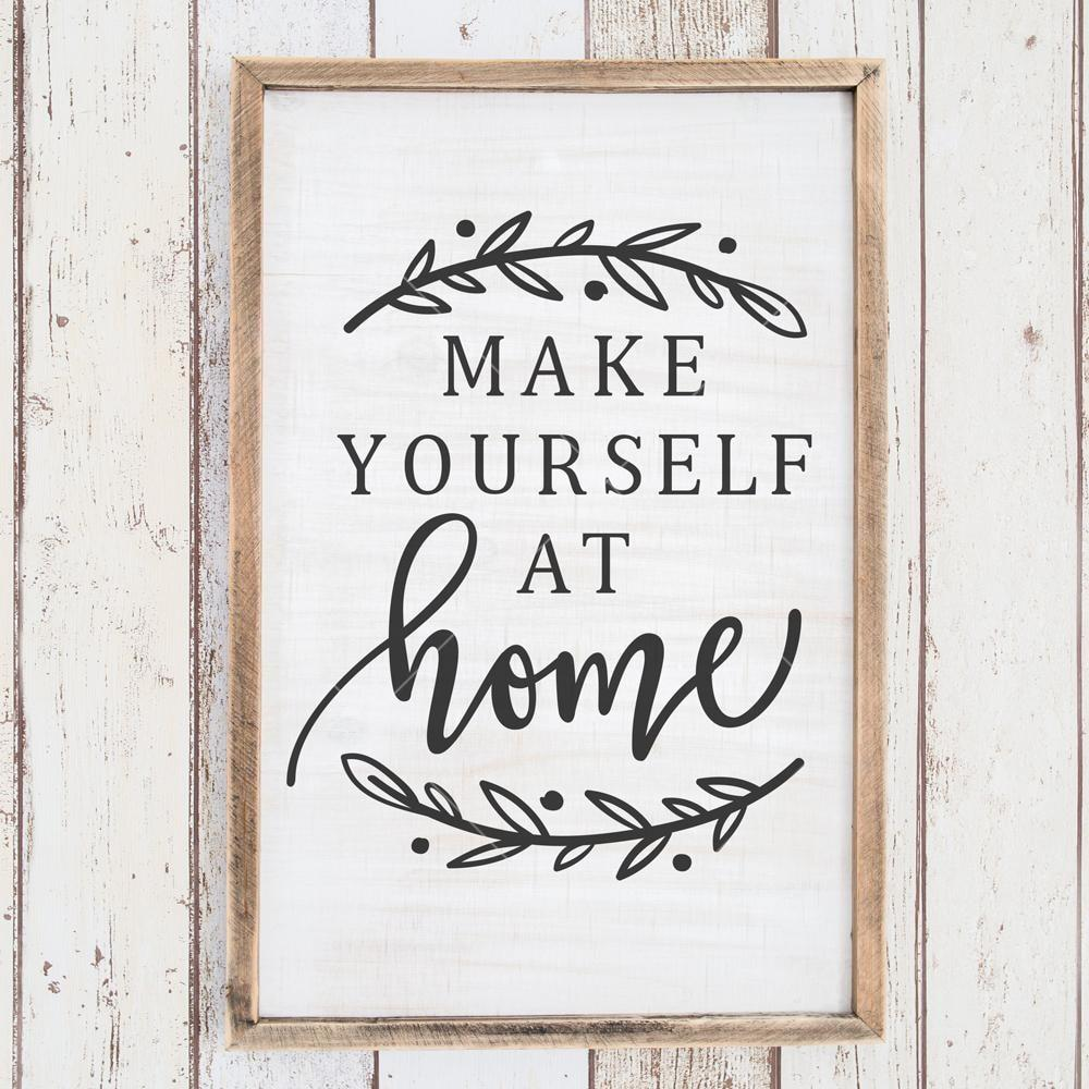 Make yourself at home svg png dxf eps.