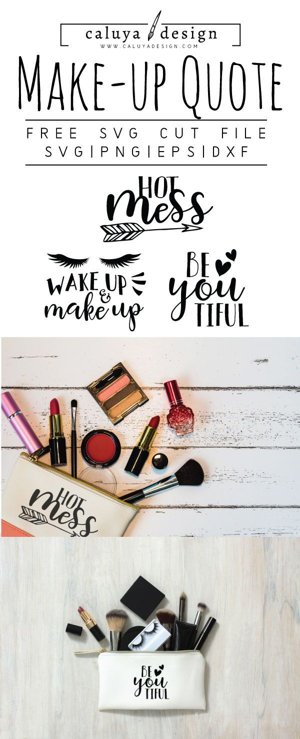 FREE Make UP Quote SVG, PNG, EPS & DXF by.