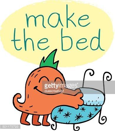 Monster Making Bed premium clipart.