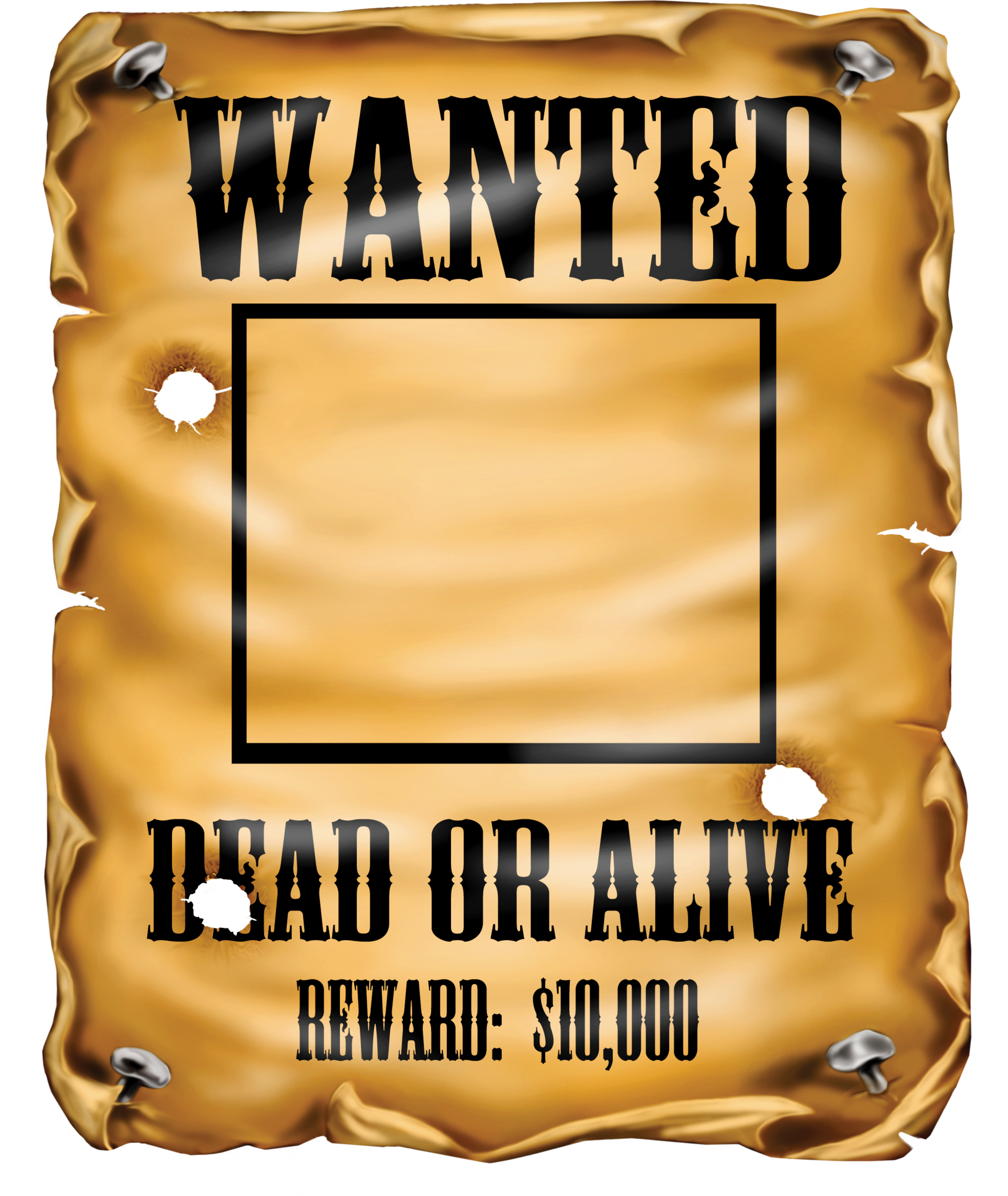Most Wanted Poster Clipart.