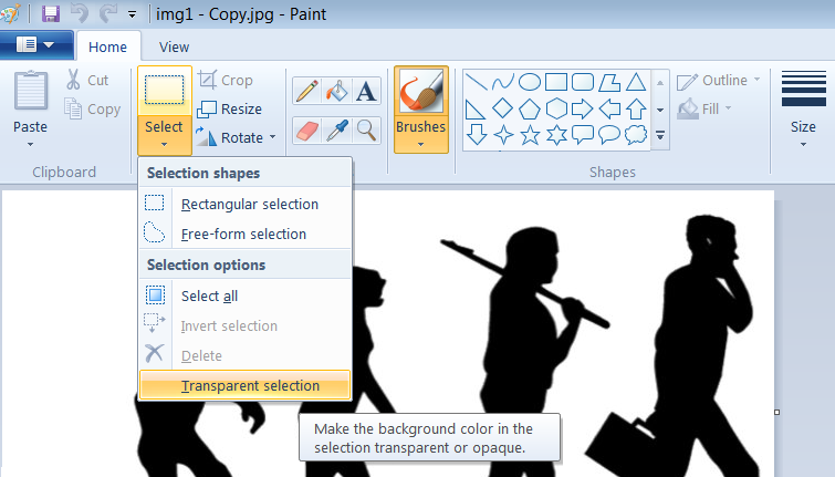 How to Make Background Transparent in Paint.