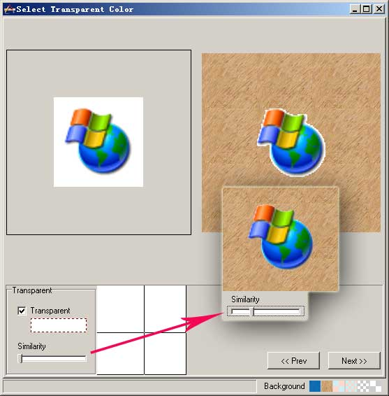 How to make a transparent icon from JPG BMP GIF PNG or.