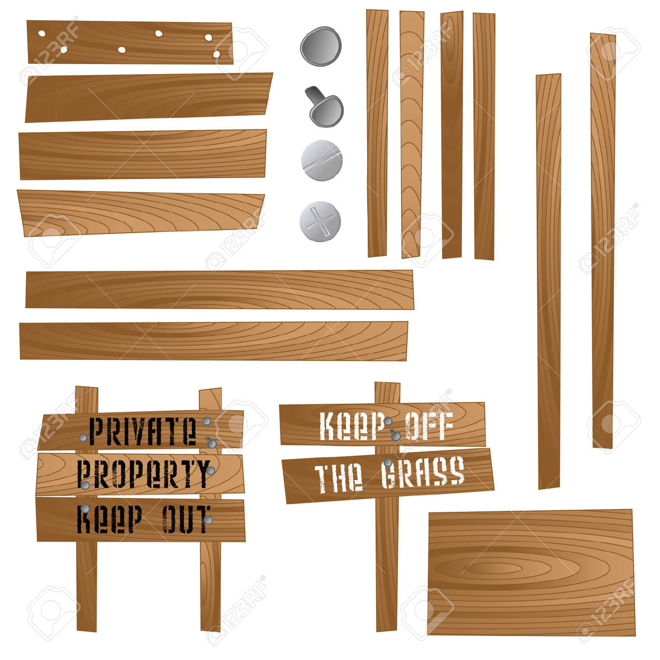 Set Of Wooden Signs And Sections So That You Can Make Your Own.