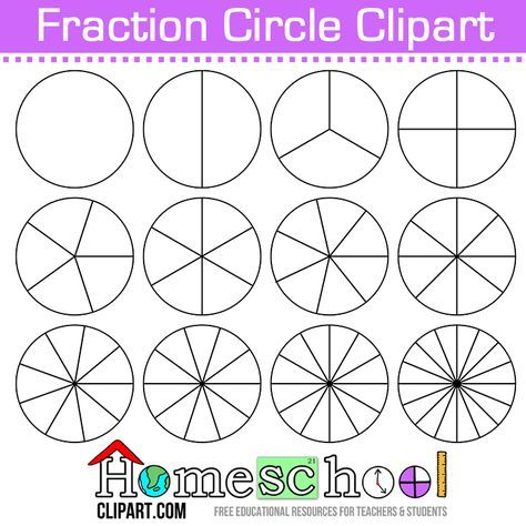 Free Fraction Circle Clipart. Use these to make your own set.