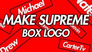 make your own supreme logo.