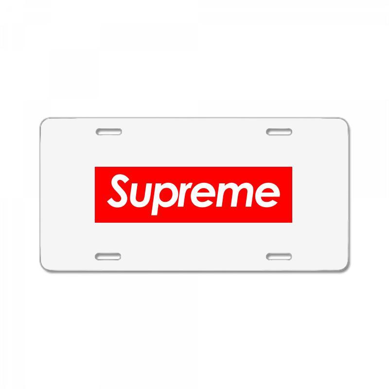 Supreme Logo License Plate. By Artistshot.