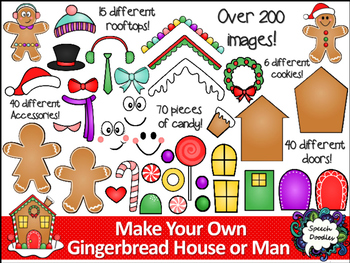 Make your own Gingerbread Man and House Printable and Clipart.