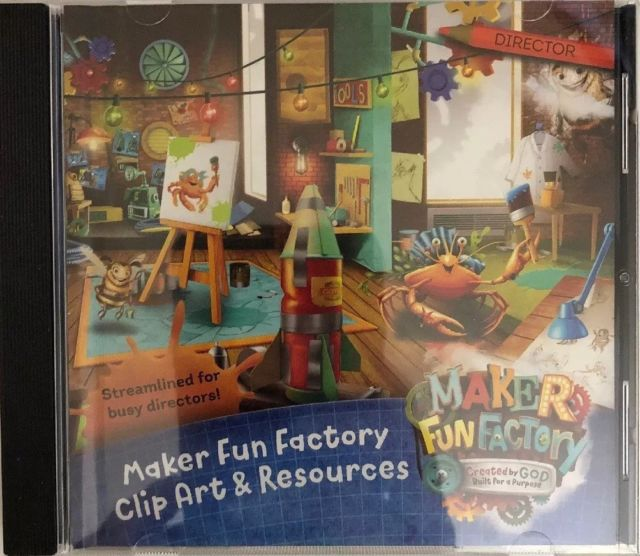 Maker Fun Factory Clip Art & Resources CD Group Easy VBS 2017.
