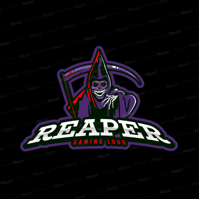 Gaming Logo Maker Featuring a Laughing Reaper Clipart 383r 2290.
