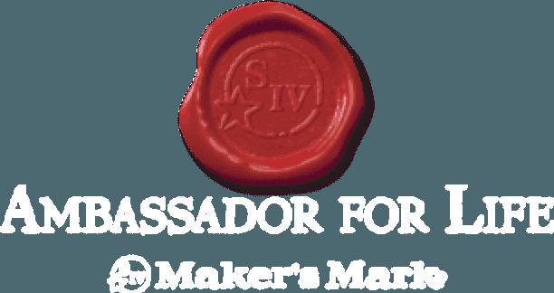 Maker\'s Mark Ambassador For Life Logo.
