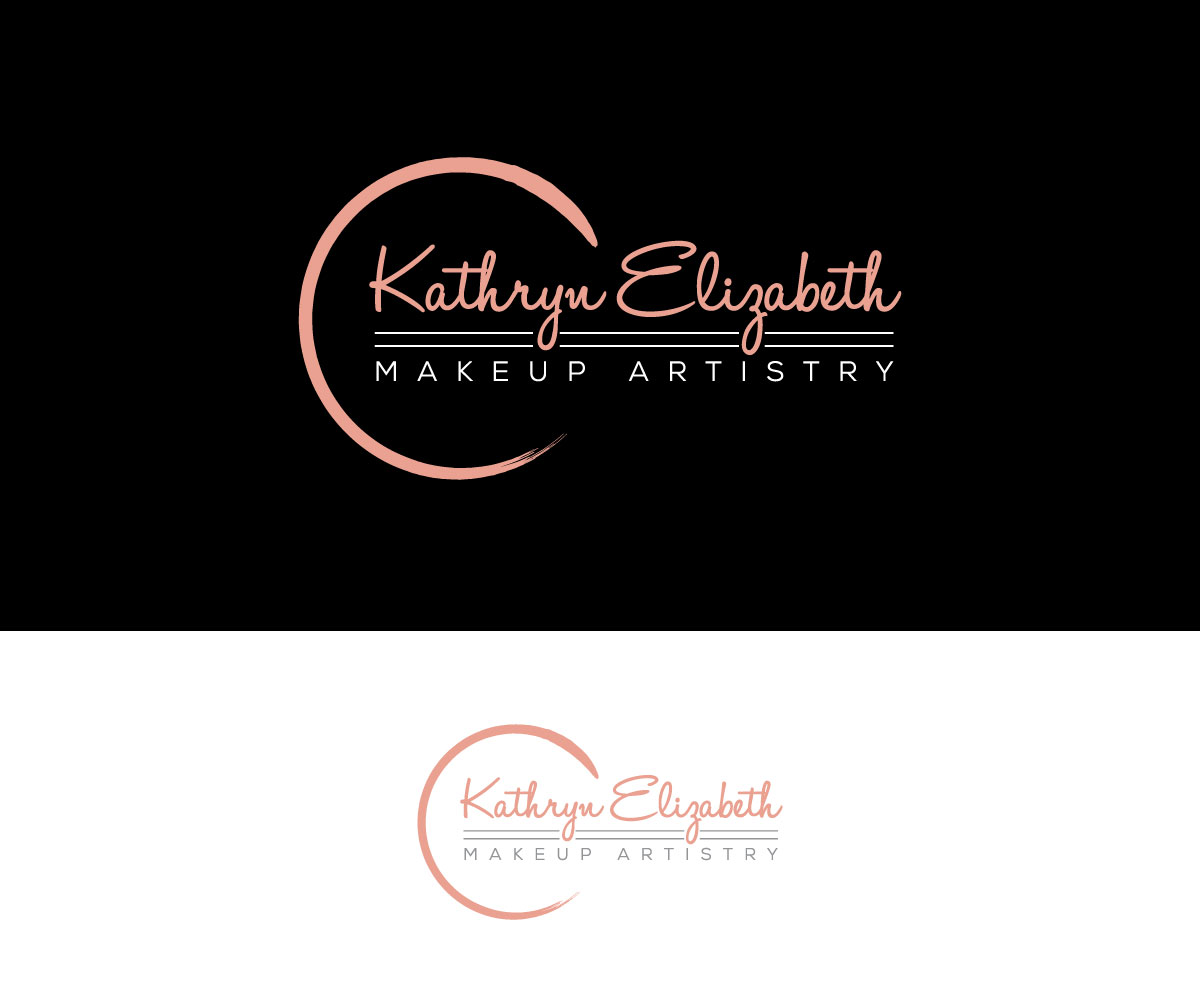 Elegant, Feminine, Makeup Logo Design for Kathryn Elizabeth.