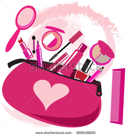 Vector Images, Illustrations and Cliparts: Makeup bag with.