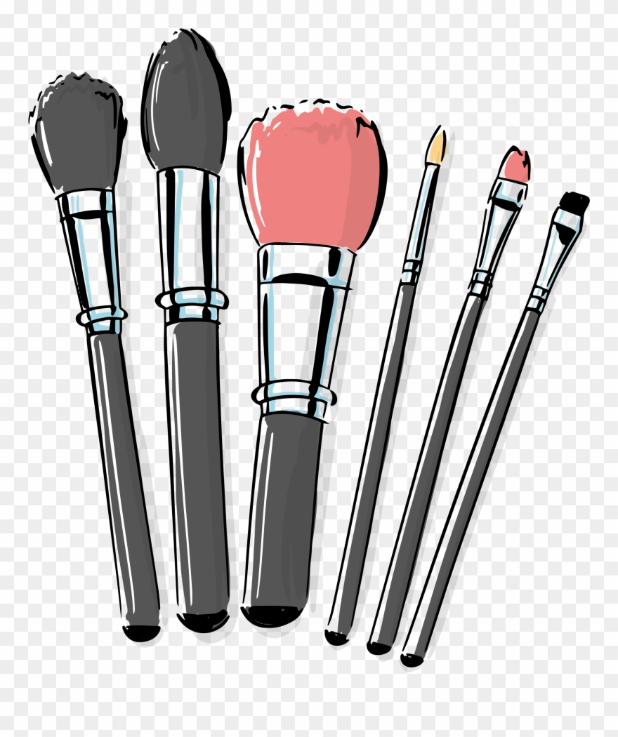Cosmetic Vector Makeup Brush Clipart (#2804325).