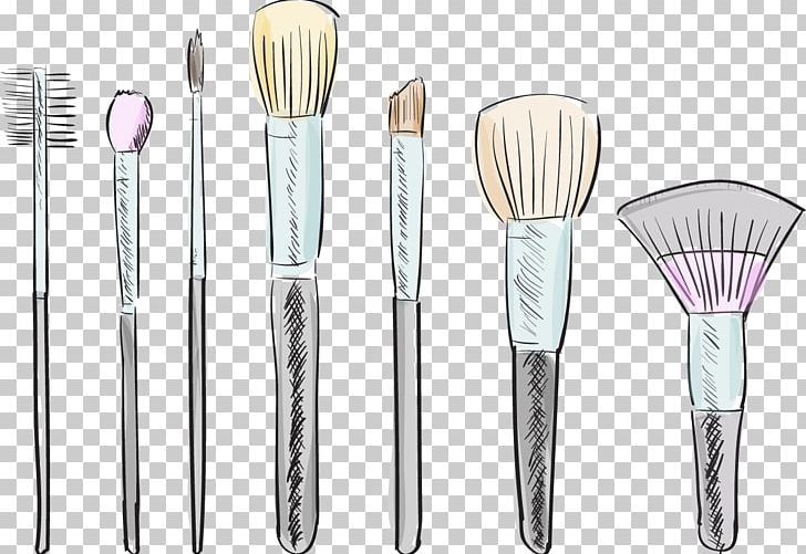 Makeup Brush Cosmetics Drawing Illustration PNG, Clipart.