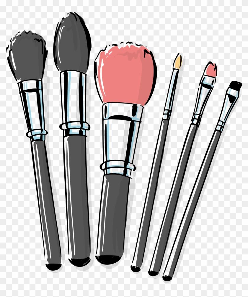 Cosmetic Vector Makeup Brush.