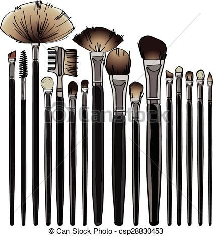 Makeup brush Clip Art Vector Graphics. 2,913 Makeup brush.