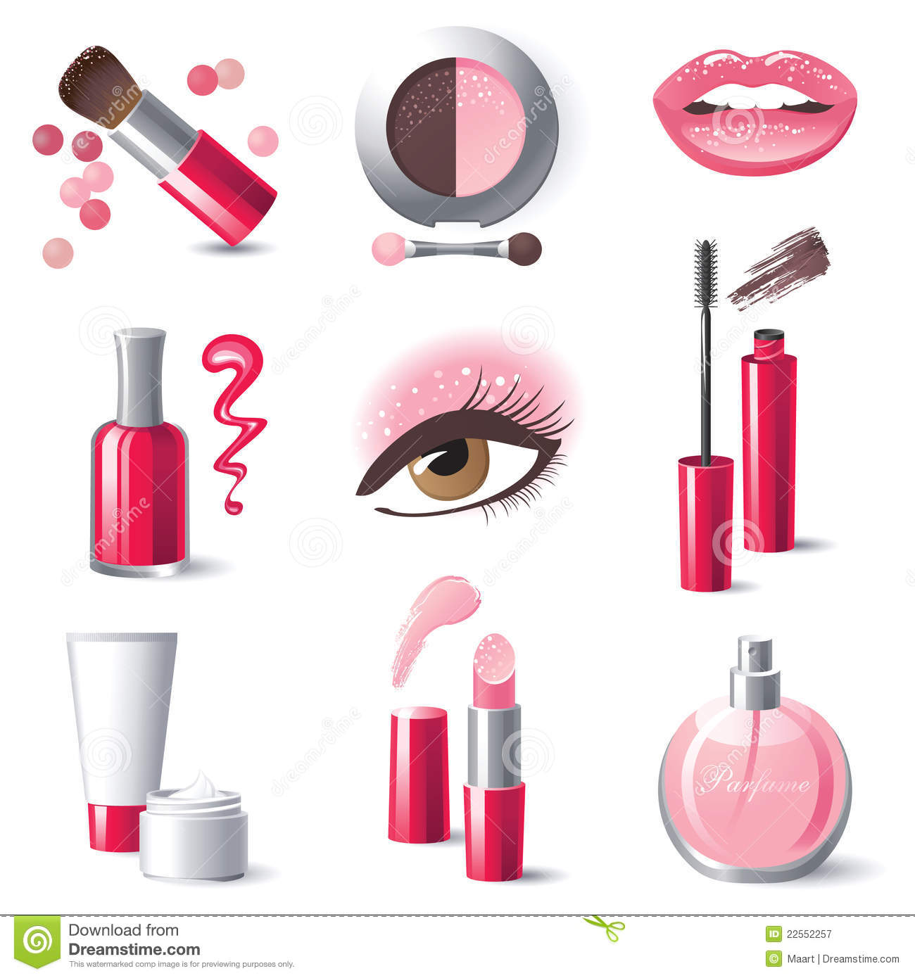 Makeup Stock Illustrations.