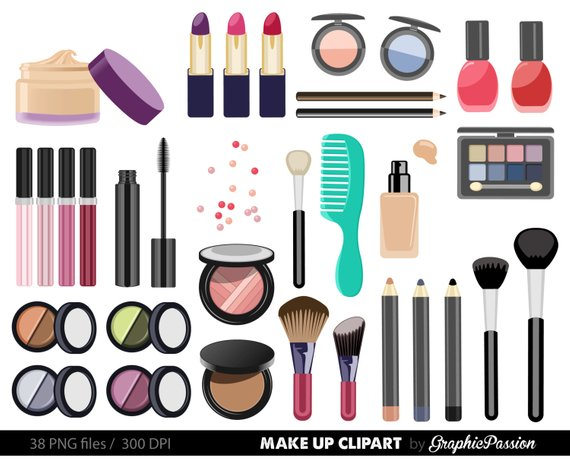 Make up Collection Digital Clipart Beauty Clipart Cosmetic.