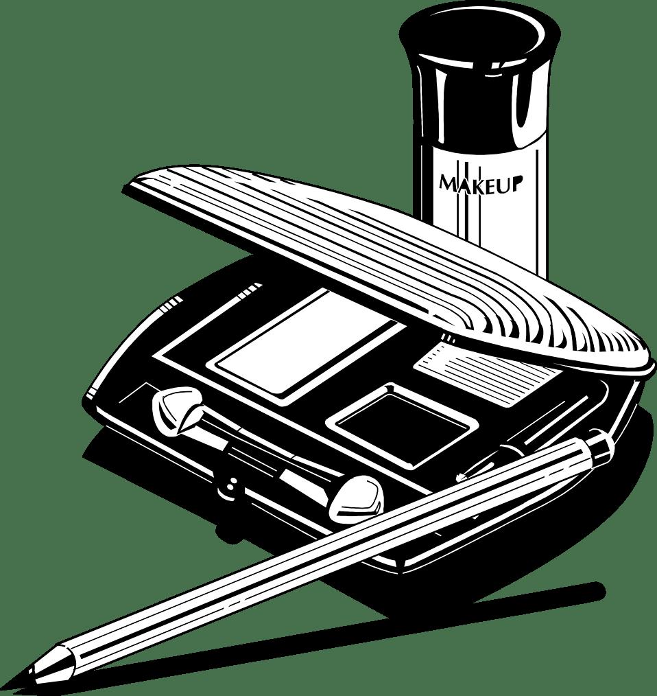 Makeup Kit Clipart transparent PNG.