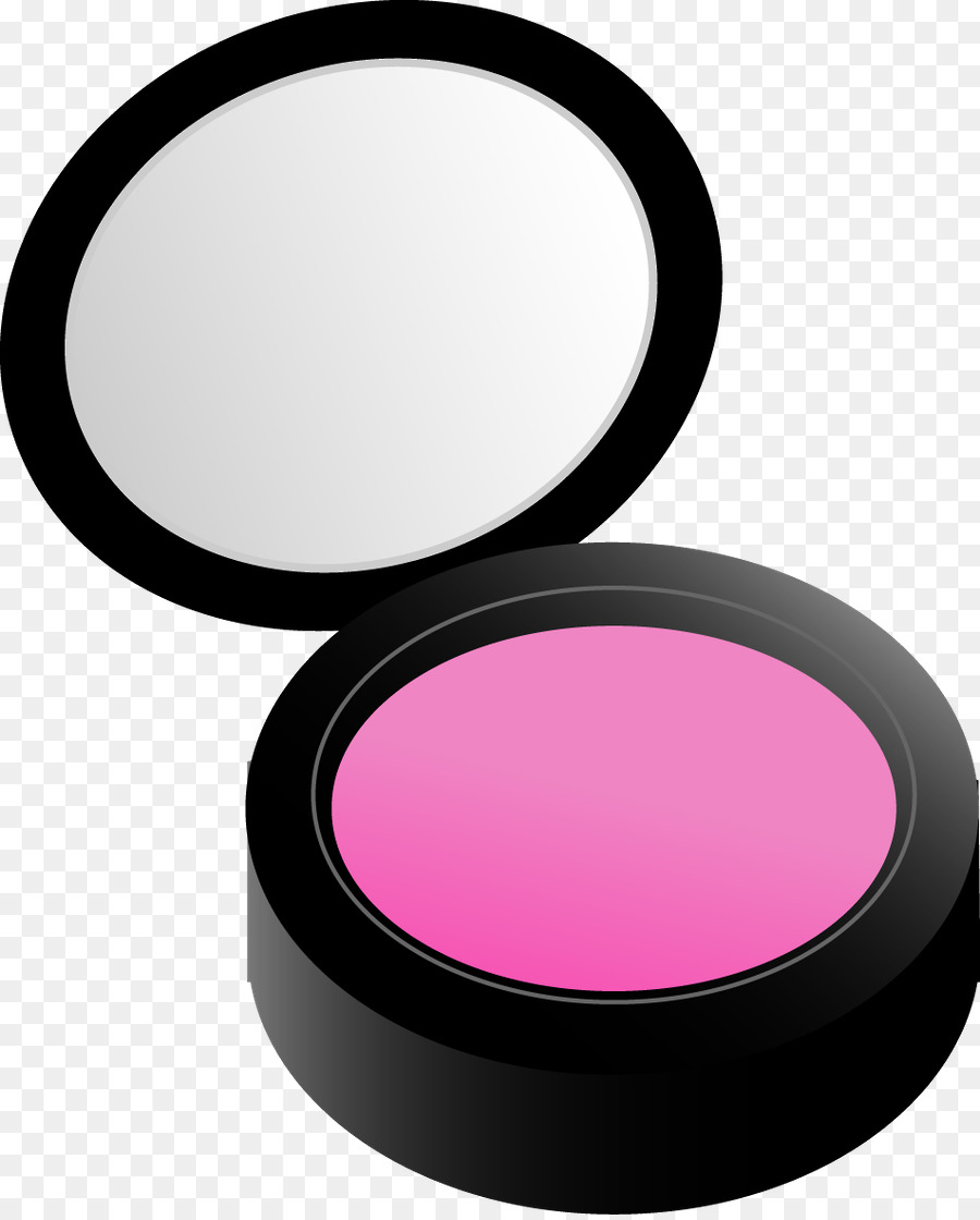 Cosmetics Rouge Compact Face Powder Clip art.