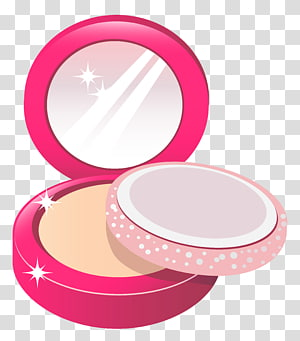 Compact powder makup illustration, Cosmetics Eye shadow.
