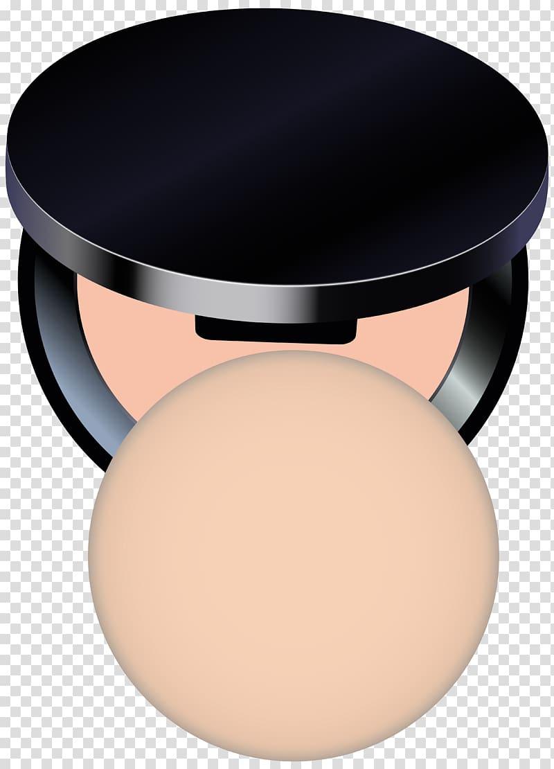 Black case makeup pallet , Face powder Compact , Compact.
