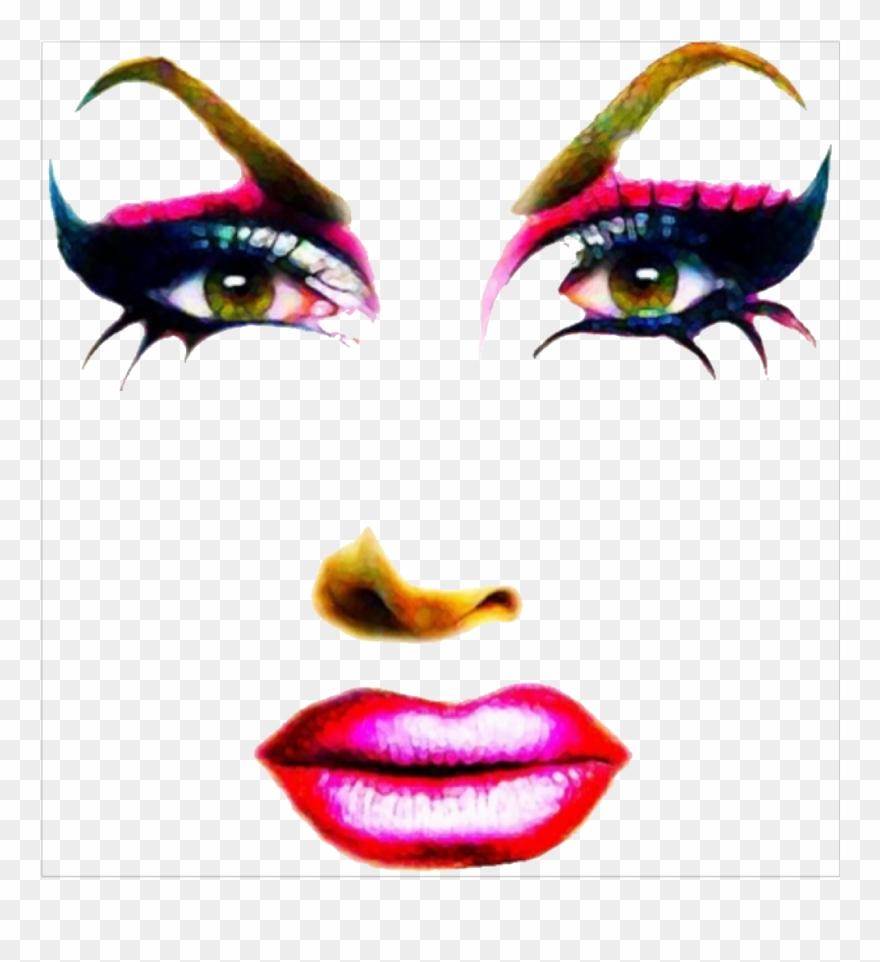 Dragqueen Face Makeup Rupaulsdragrace Freetoedit Clipart.