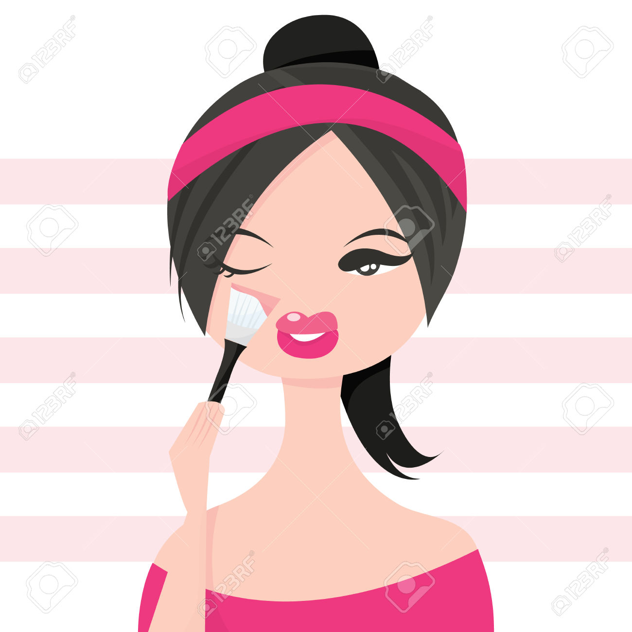 5,495 Make Up Girl Stock Vector Illustration And Royalty Free Make.