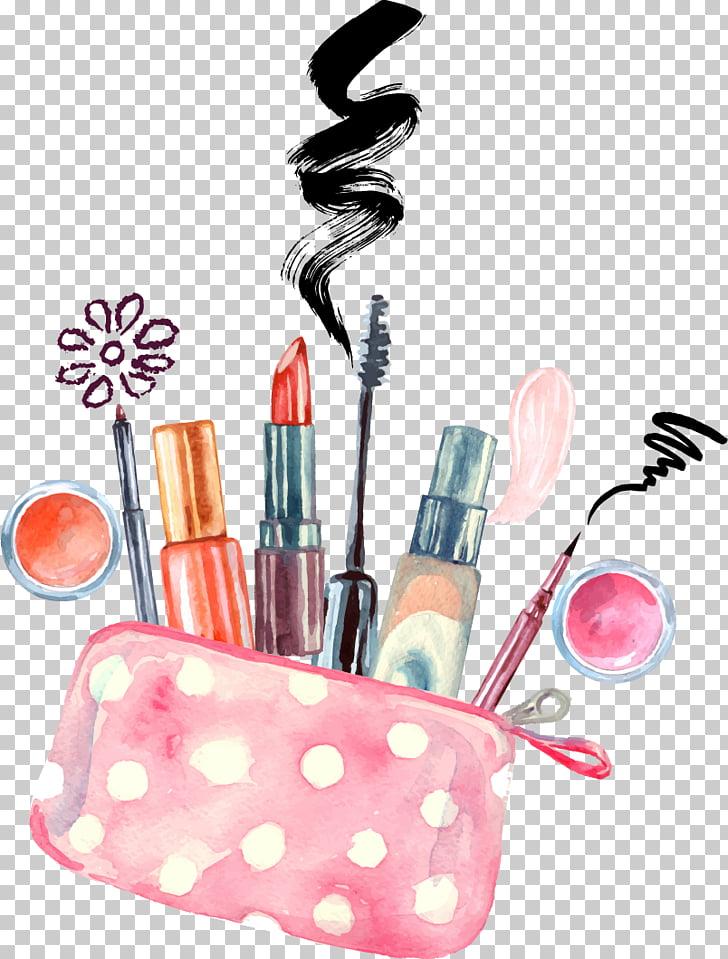 Cosmetics Watercolor painting Make.