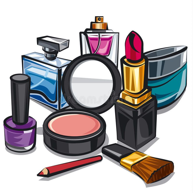 Illustration about Illustration of the makeup and perfumes.