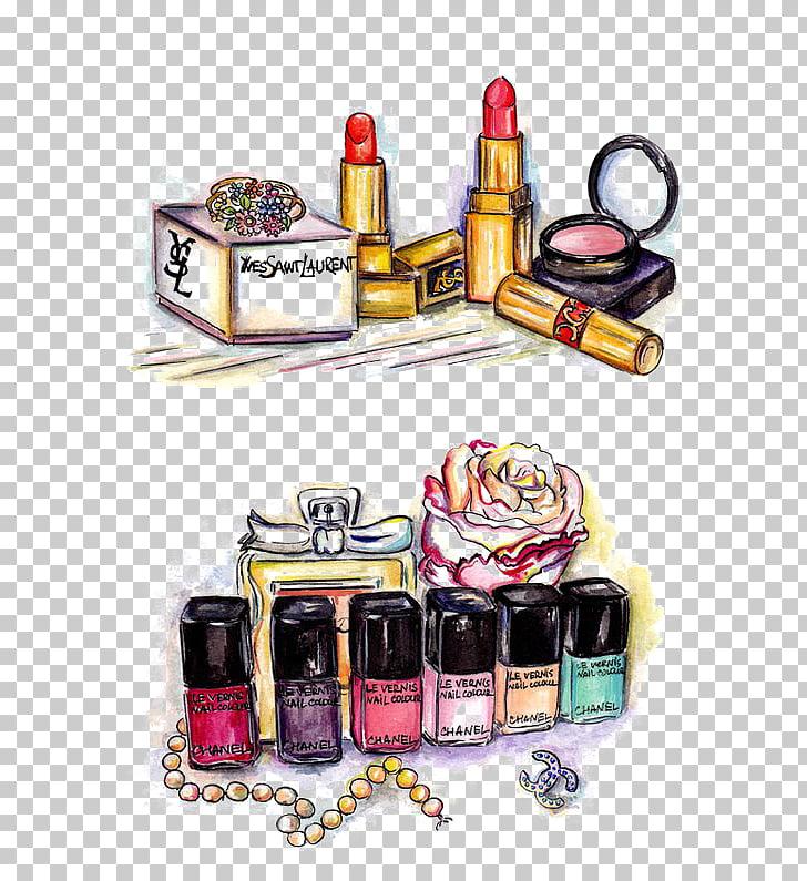 Cosmetics Drawing Watercolor painting Lipstick Illustration.