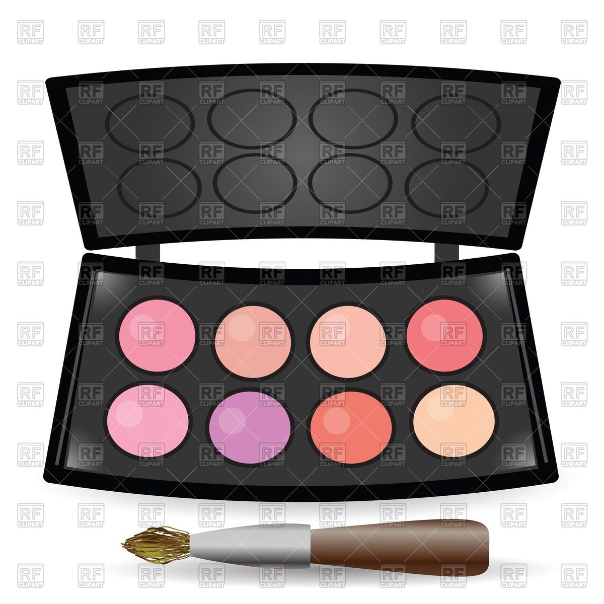 Eyeshadow palette Stock Vector Image.