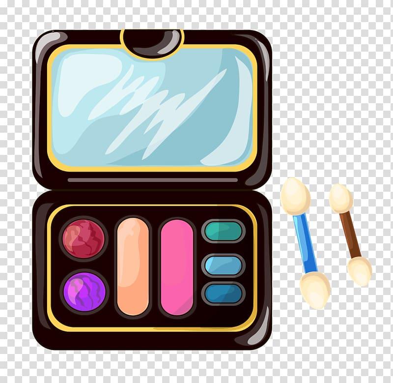 Makeup palette illustration, Eye shadow MAC Cosmetics.