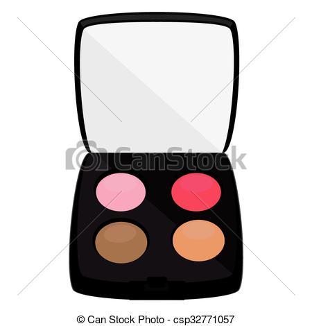 Eyeshadows cosmetic vector.