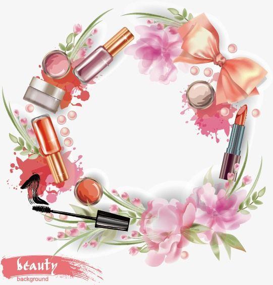 Women Supplies Vector, Lipstick, Powder, Flowers PNG and.