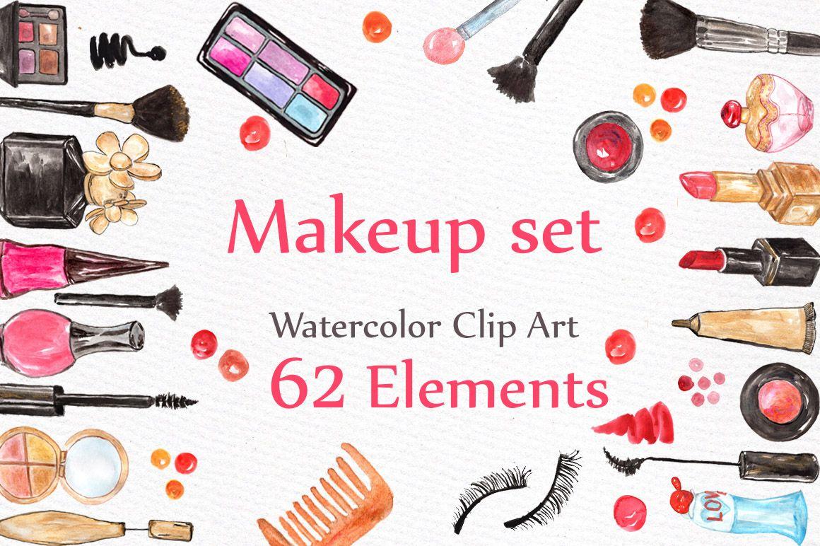 Watercolor makeup set.