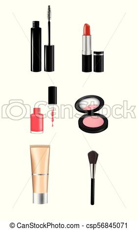 Woman makeup set.
