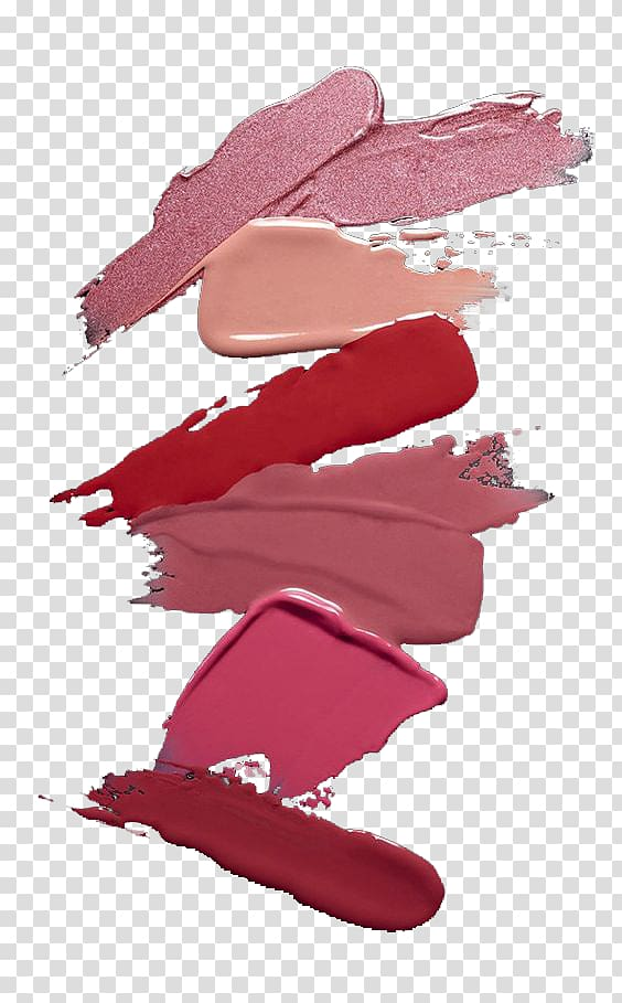 Lipstick Red Cosmetics Color, Lipstick smear test color Pink.