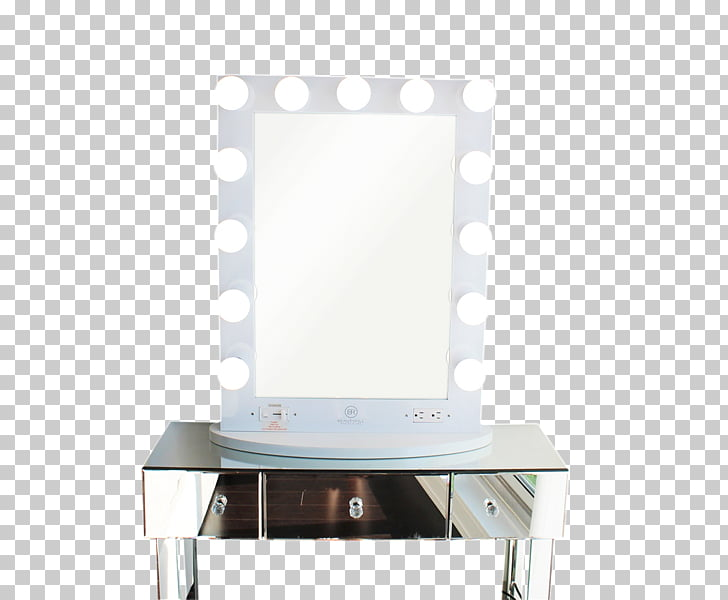 Light Vanity Mirror Cosmetics Table, curler PNG clipart.