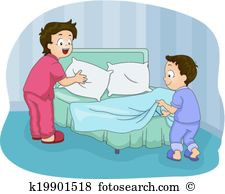 Making bed Clipart Royalty Free. 590 making bed clip art vector.