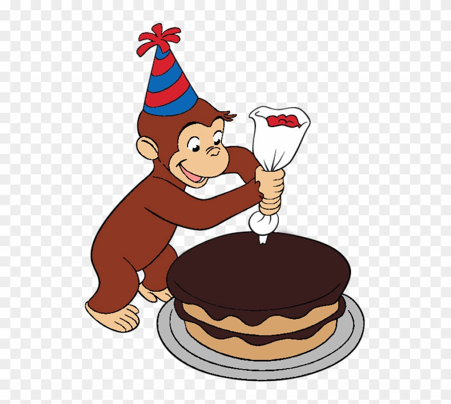 Curious George Decorated A Cake.